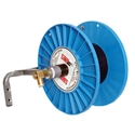 SMT-200RWC, Hose Reel SMT-200RWC, smt-200-rwc, smt200-rwc, smt200rwc, wall mount,  hose, hose reel, Wall Mount Hose Reel, wall mount systems, space-saving, convenient, industrial strength addition , Manual rewind, Spray gun storage bracket, Steel frame, High impact structural plastic wheel, External swivel assembly and friction brake, Quick coupler for hook-up at the remote station