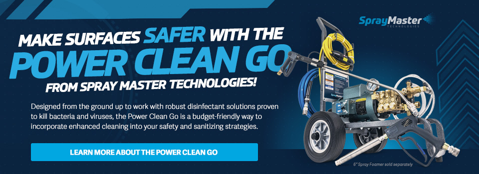 Learn more about the affordable and portable option for sanitizing high-touch areas - the Power Clean Go 1100SS